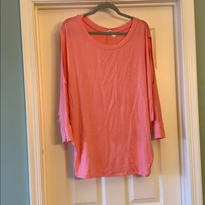 Tops - Cute pink cold shoulder top.